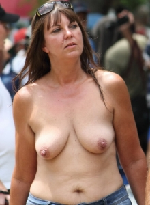 Lots Of Cute Strippers Show Off Their Skills Completely Naked At An Outdoor Public Nudity Festival - Picture 1