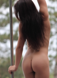 Lots Of Cute Strippers Show Off Their Skills Completely Naked At An Outdoor Public Nudity Festival - Picture 8
